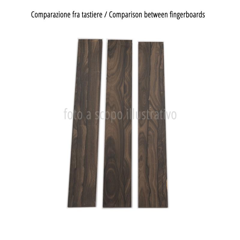 Comparison between Ziricote fingerboards