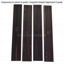 Comparison between Ebony fingerboards, III quality